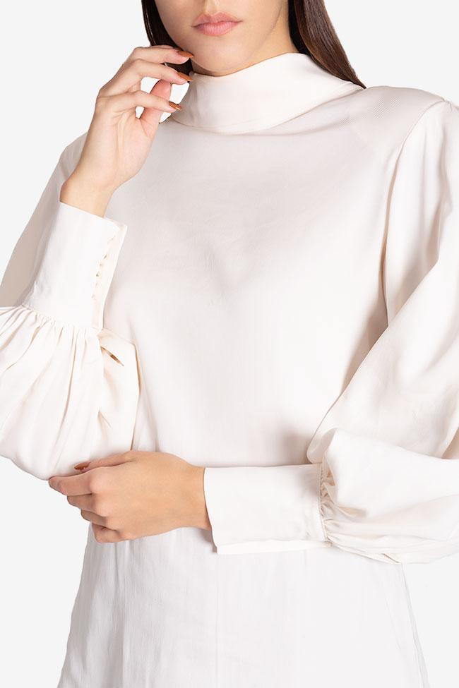 Tie-detailed silk-blend shirt Cloche image 3