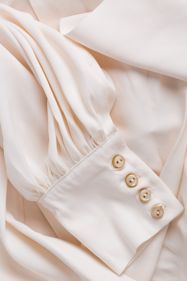 Tie-detailed silk-blend shirt Cloche image 4