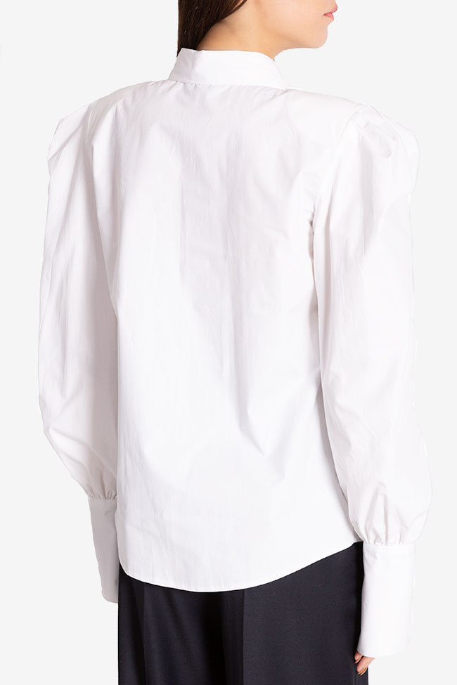 Oversized cotton-poplin shirt Cloche image 2