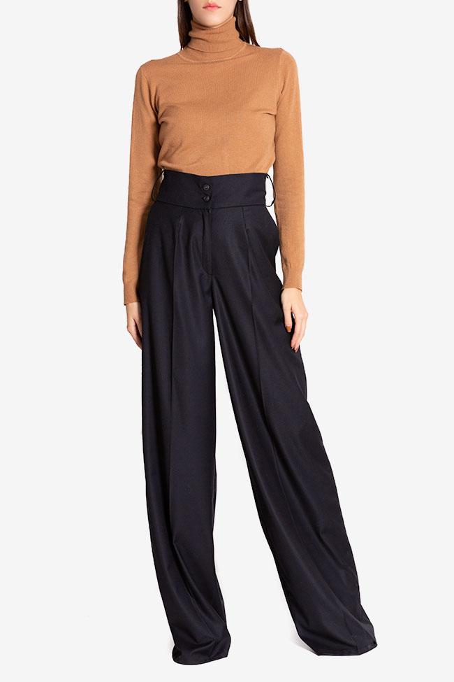 Cotton-blend wide-leg pants Cloche image 1