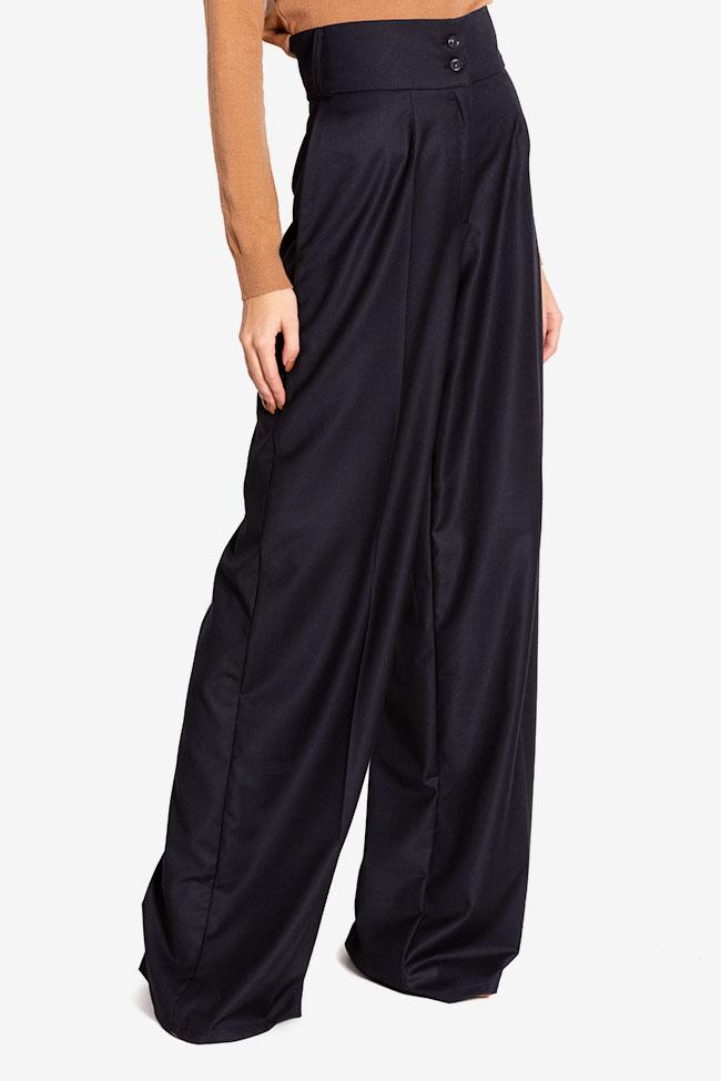 Cotton-blend wide-leg pants Cloche image 0