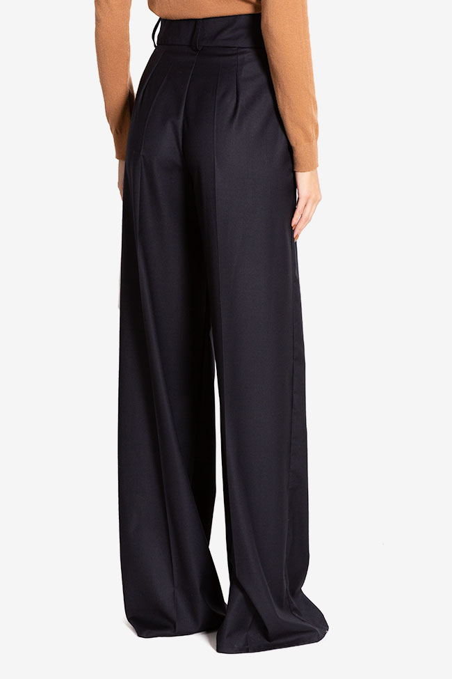 Cotton-blend wide-leg pants Cloche image 2