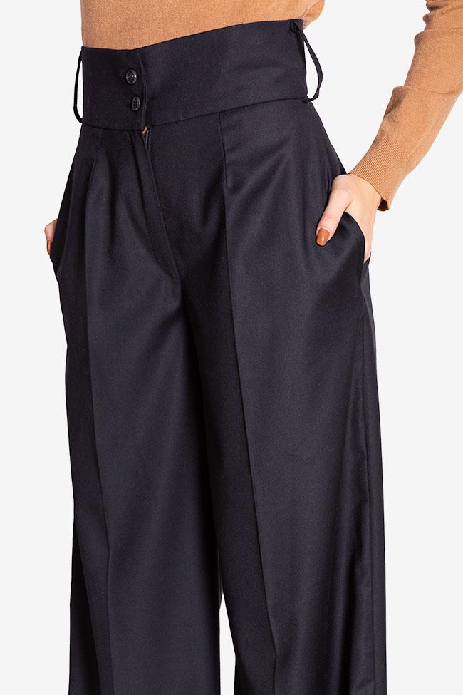 Cotton-blend wide-leg pants Cloche image 3