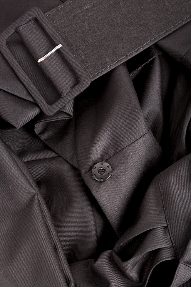 Veste tailleur en étoffe de laine avec ceinture Cloche image 4