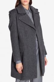 Cloche Palton din stofa de lana cu cordon