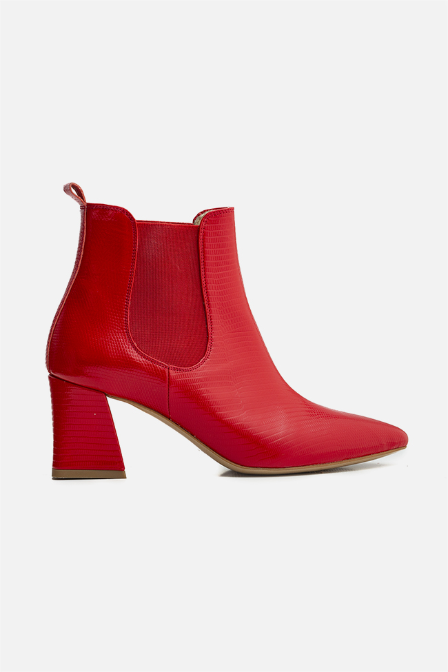 Adelle60 croc-effect leather ankle boots Ginissima image 0