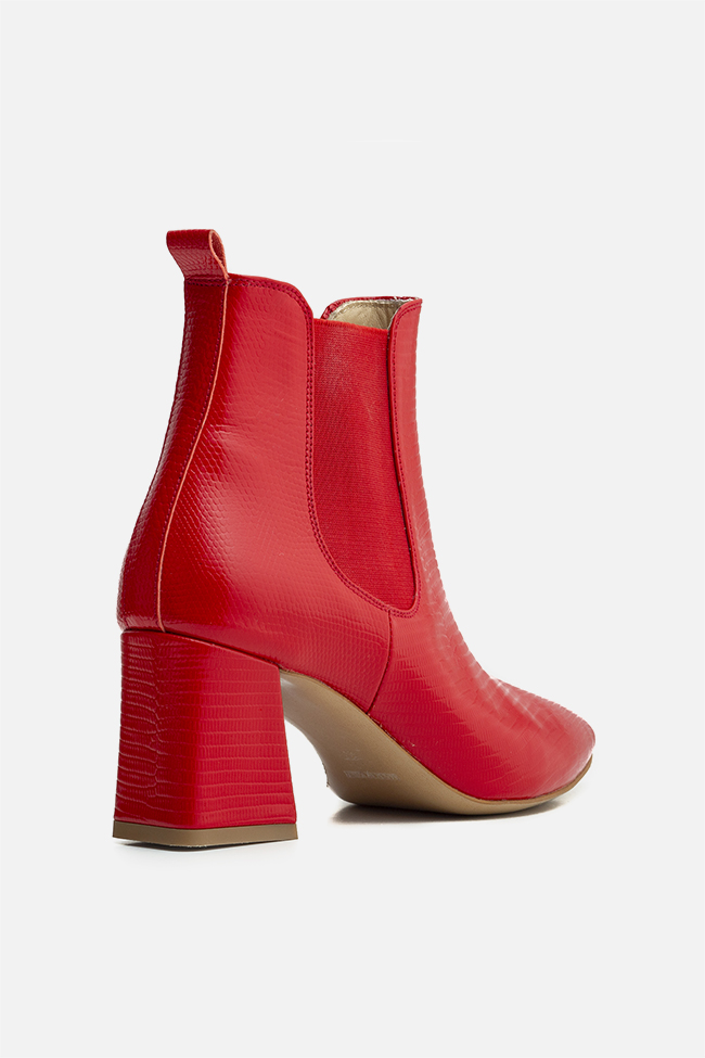 Adelle60 croc-effect leather ankle boots Ginissima image 1