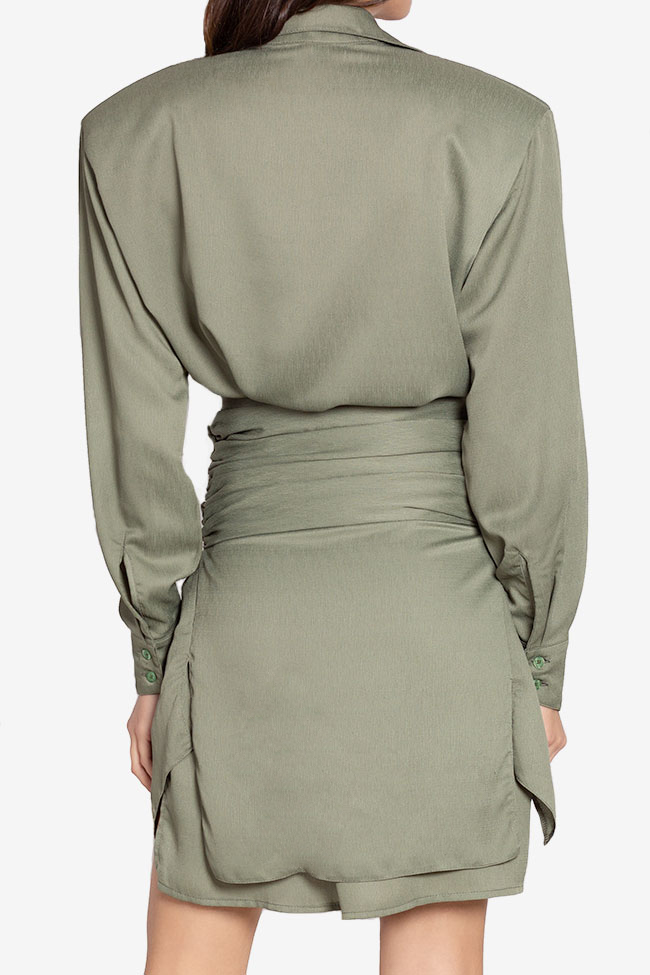 Belted asymmetric mini shirt dress NARRO image 2