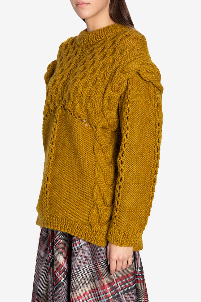 Cable-knit wool sweater NARRO image 0