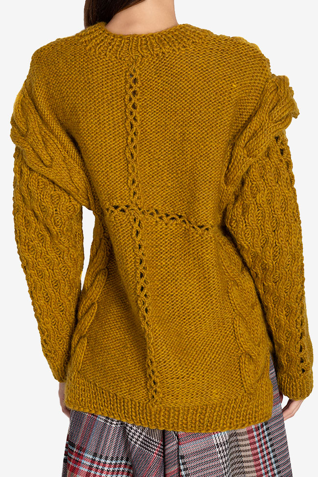 Cable-knit wool sweater NARRO image 2