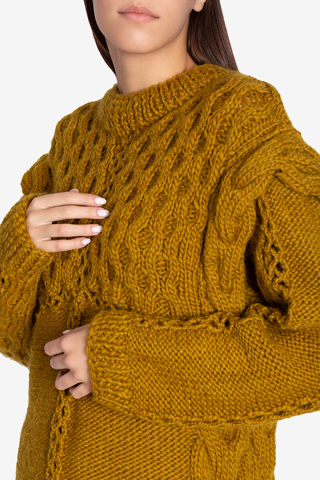 Cable-knit wool sweater NARRO image 3