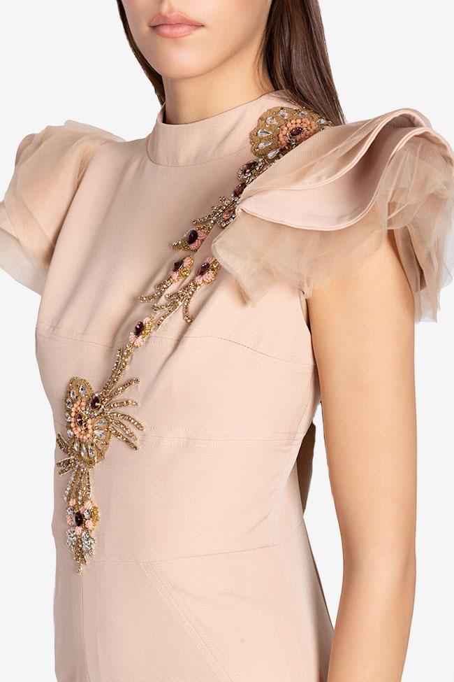 Robe en crêpe avec broderie cousue à la main Atelier Maria Iftimoaie image 3