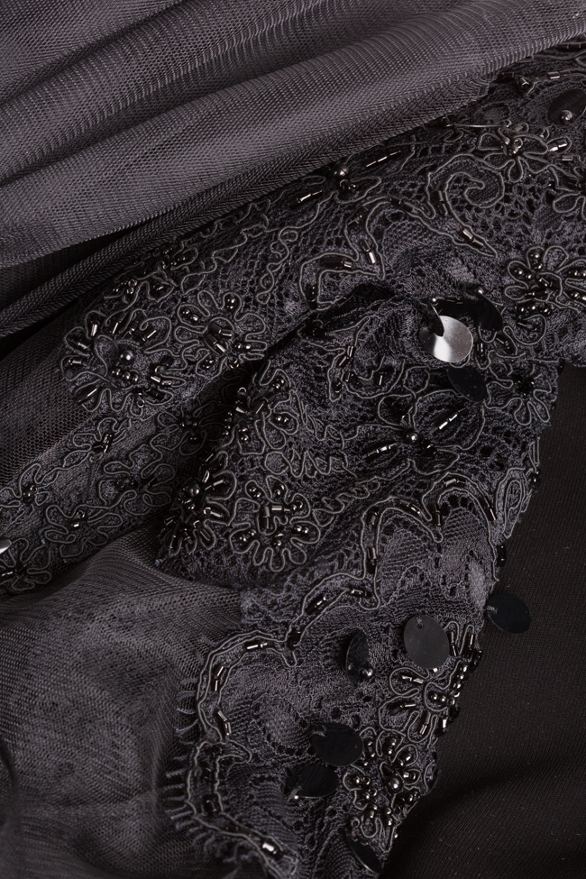 Robe en crêpe et tulle avec empiècements de dentelle Atelier Maria Iftimoaie image 4