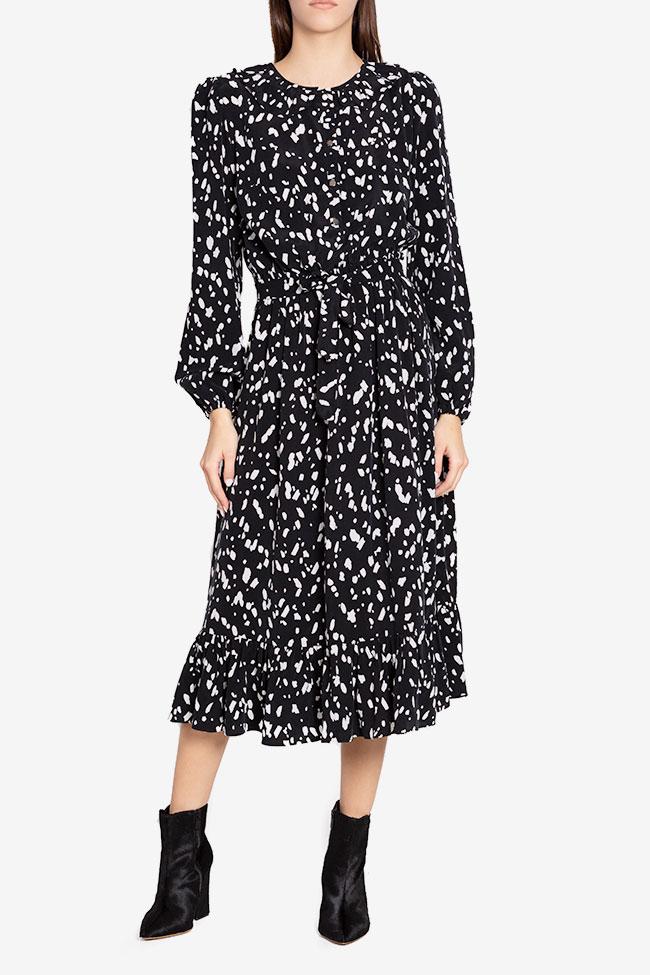 Rochie din viscoza cu imprimeu Atelier Maria Iftimoaie imagine 0