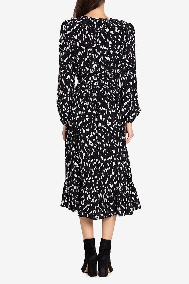 Rochie din viscoza cu imprimeu Atelier Maria Iftimoaie imagine 2