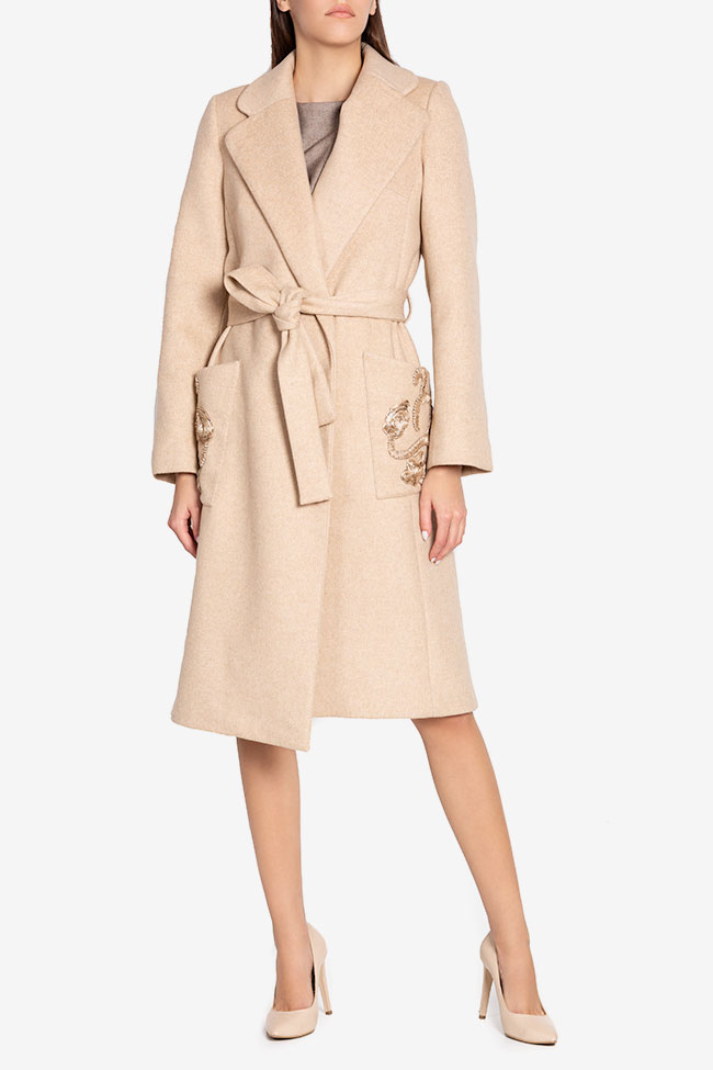 Belted wool and cashmere coat Ramona Belciu image 1