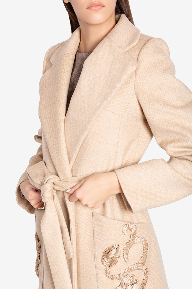 Belted wool and cashmere coat Ramona Belciu image 3