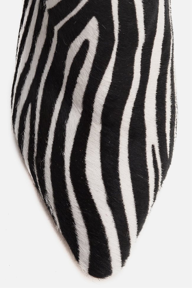 Sara90 zebra-print calf hair ankle boots Ginissima image 3