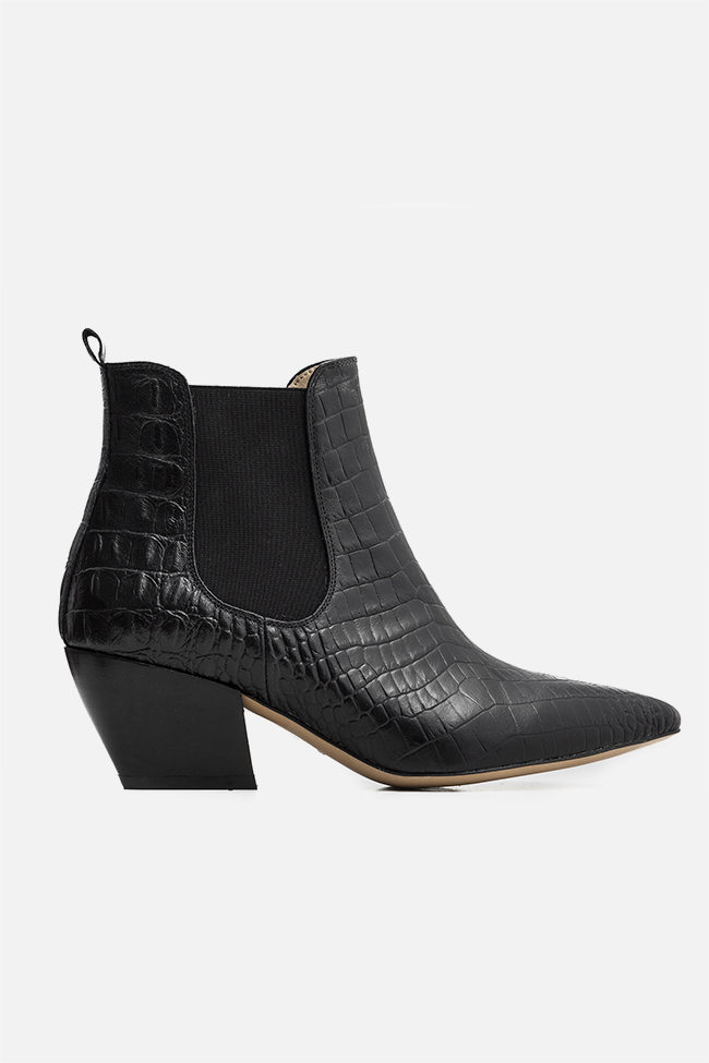 Virginia55 croc-effect leather ankle boots Ginissima image 0