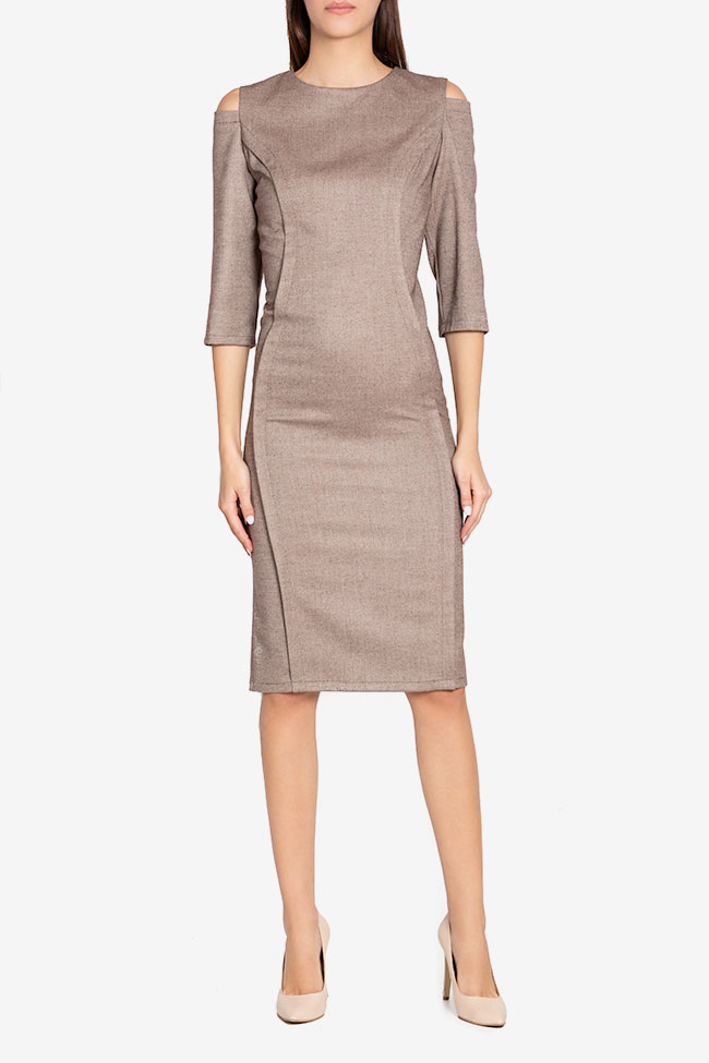 Chantelle cold-shoulder wool-blend midi dress Couture de Marie image 1