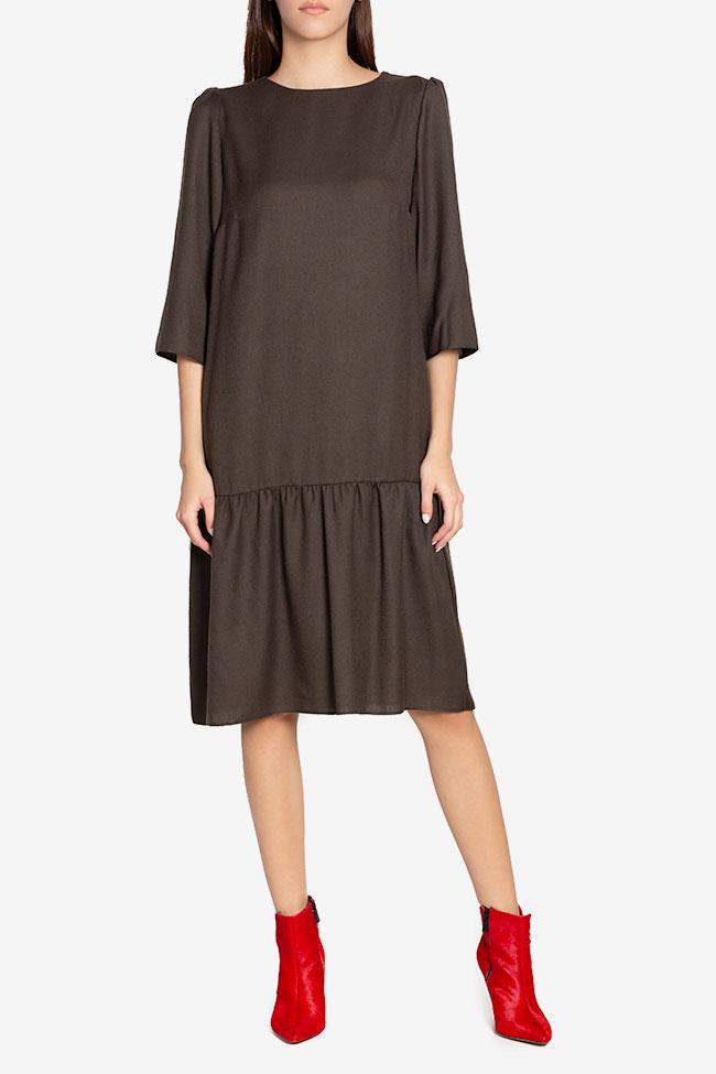 Rochie din amestec de lana Tashia Couture de Marie imagine 1