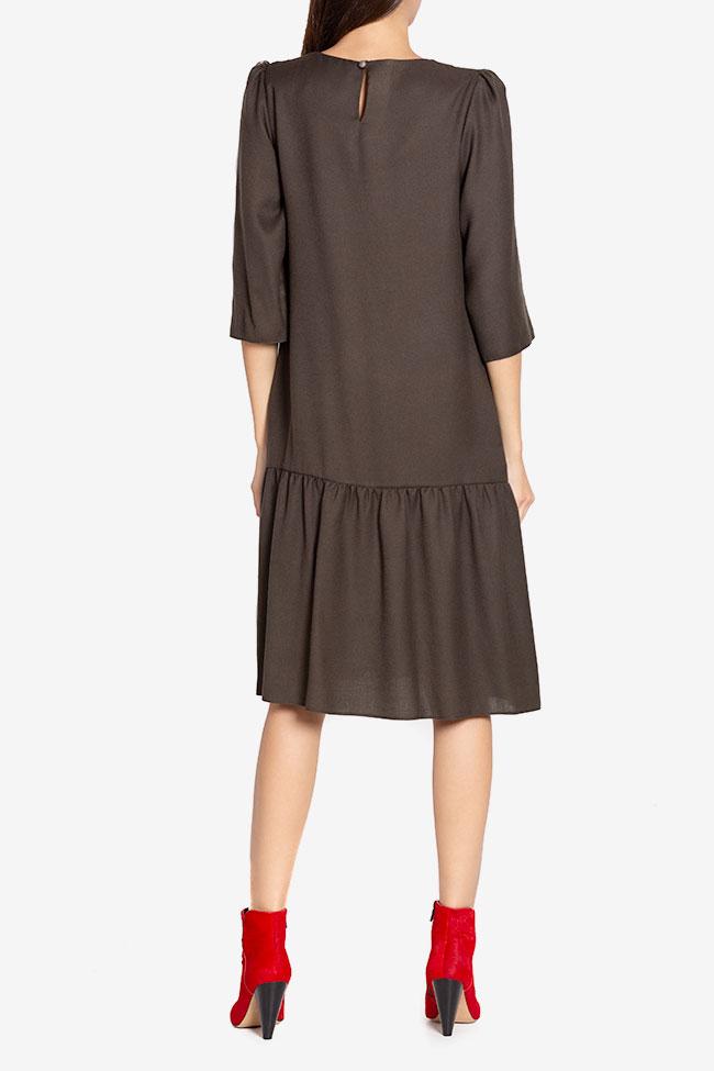 Rochie din amestec de lana Tashia Couture de Marie imagine 2