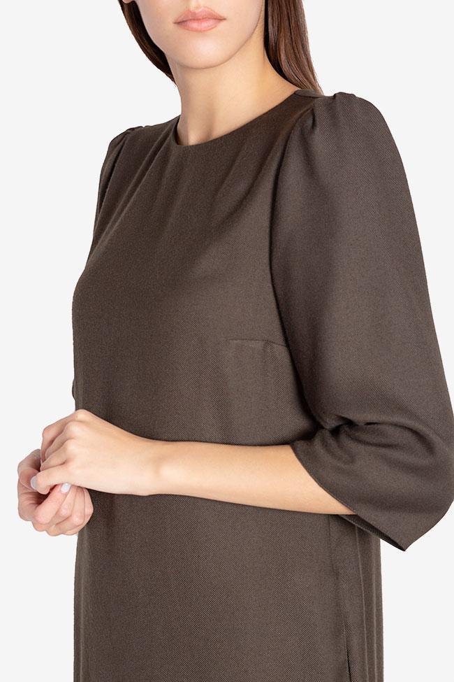 Rochie din amestec de lana Tashia Couture de Marie imagine 3