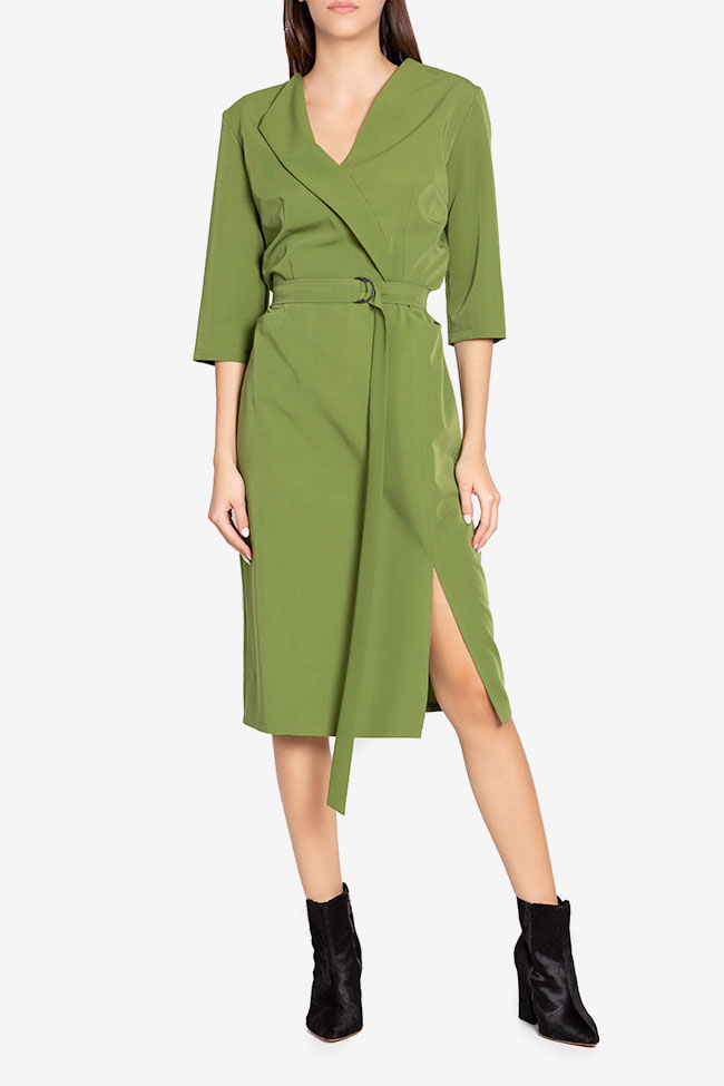 Julie wrap-effect belted crepe midi dress Couture de Marie image 1
