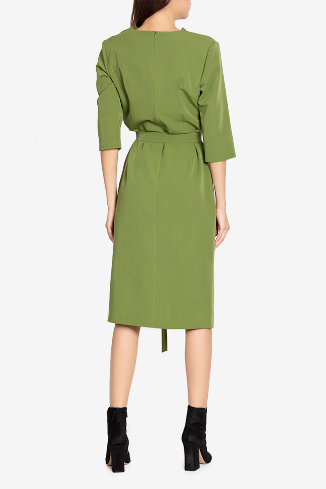 Julie wrap-effect belted crepe midi dress Couture de Marie image 2