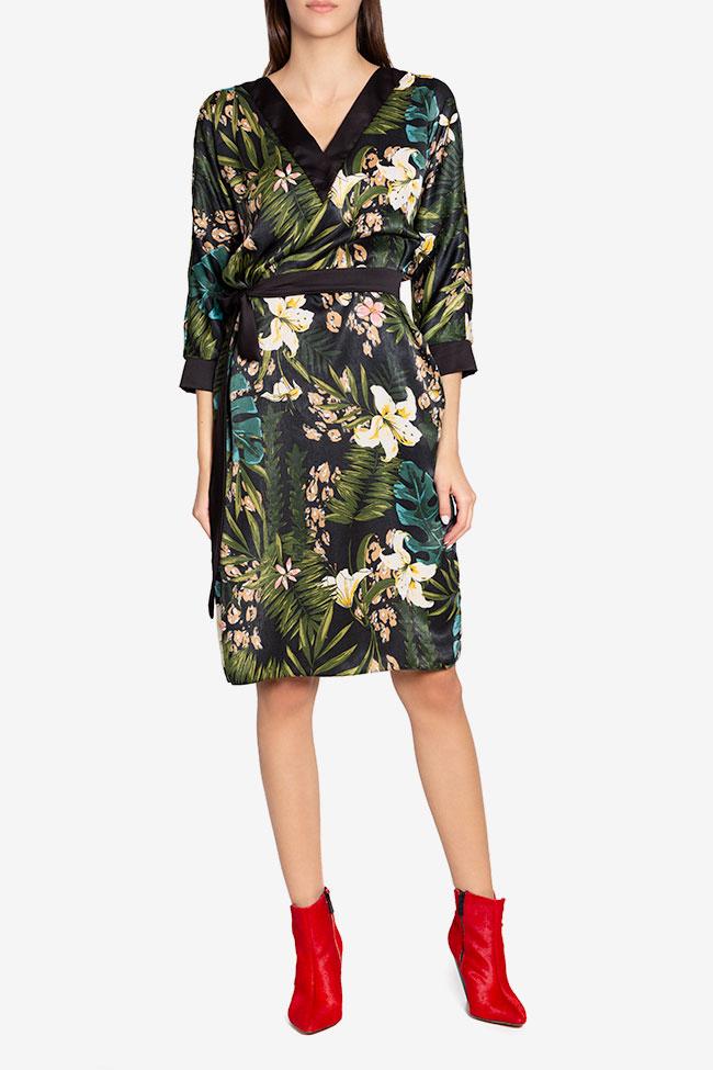 Amelia wrap-effect belted satin midi dress Couture de Marie image 1