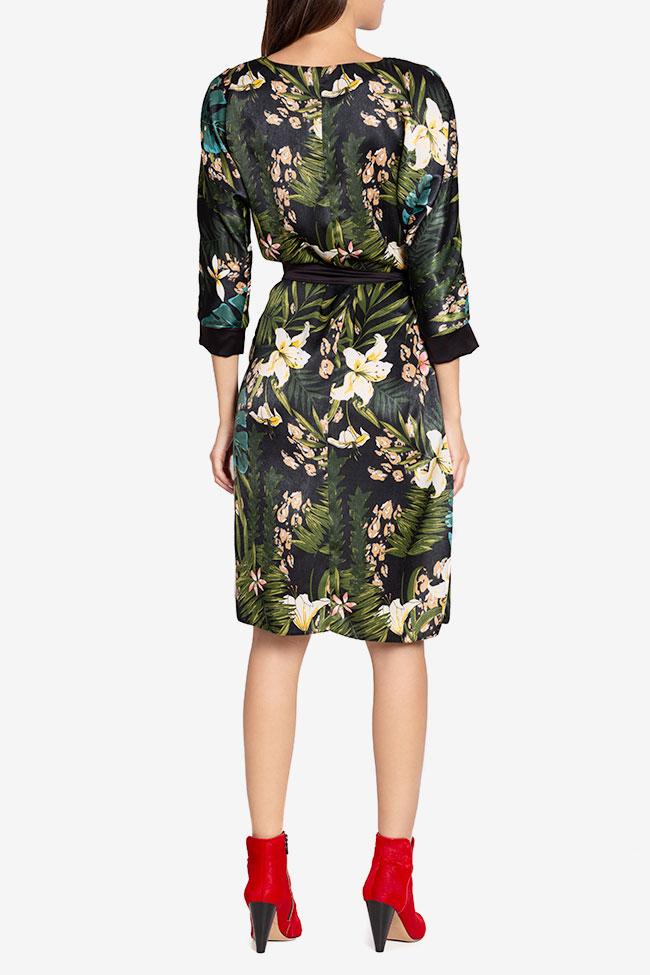 Amelia wrap-effect belted satin midi dress Couture de Marie image 2