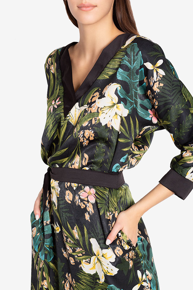 Amelia wrap-effect belted satin midi dress Couture de Marie image 3