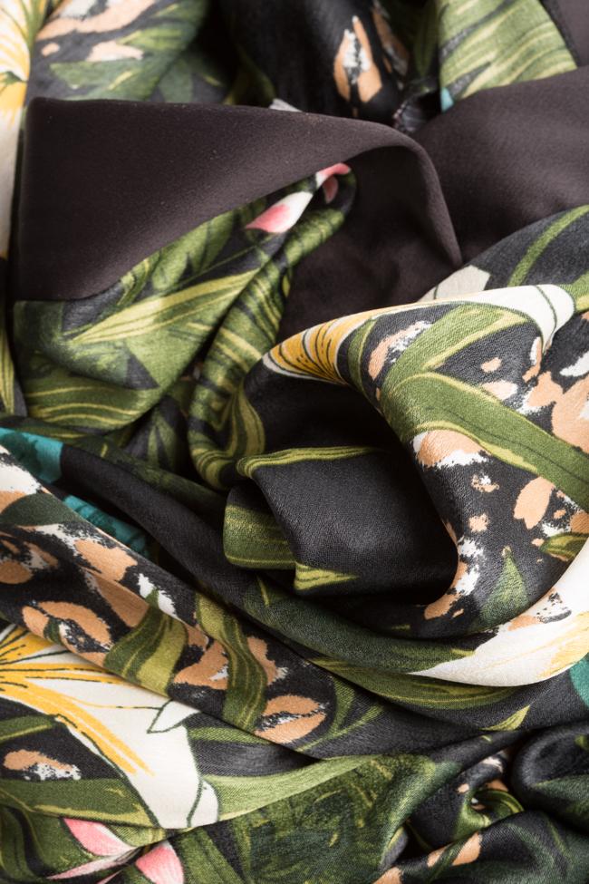 Amelia wrap-effect belted satin midi dress Couture de Marie image 4