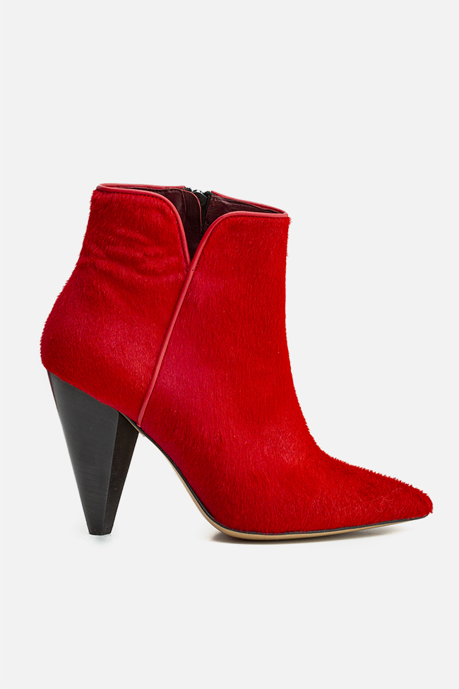 Sara90 calf hair ankle boots Ginissima image 0