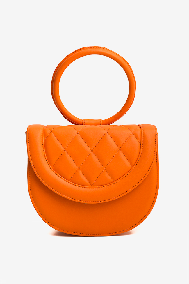 Quilted leather tote Laura Olaru image 1