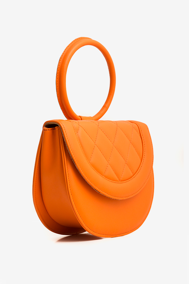 Quilted leather tote Laura Olaru image 0