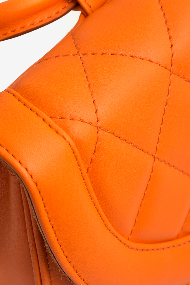 Quilted leather tote Laura Olaru image 3