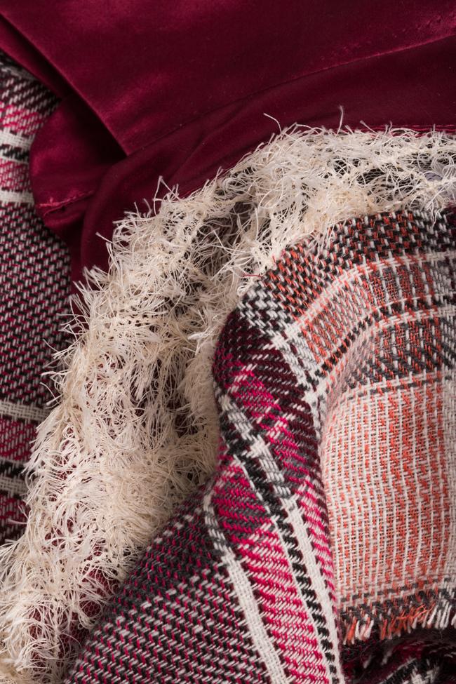 Robe en soie et laine à carreaux Elena Perseil image 4