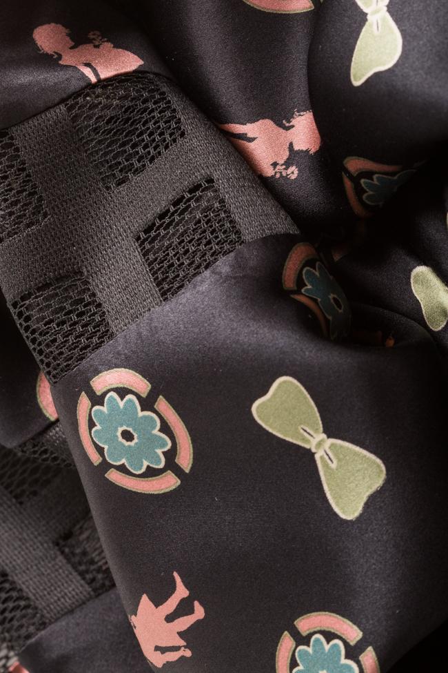 Jupe asymétrique en soie satinée à imprimé Elena Perseil image 4