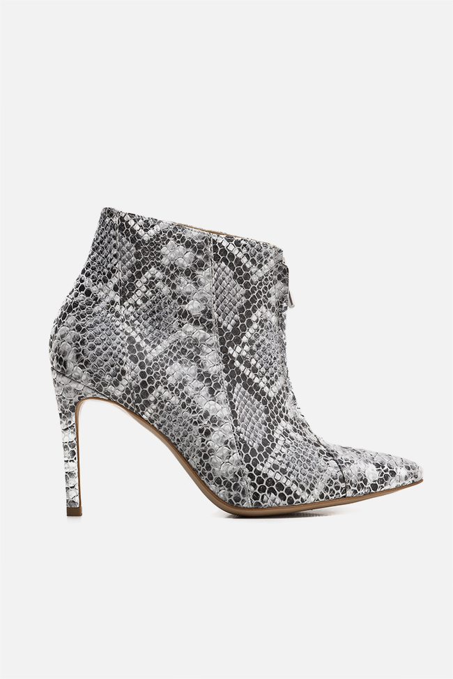 Snake-effect leather ankle boots Ginissima image 0