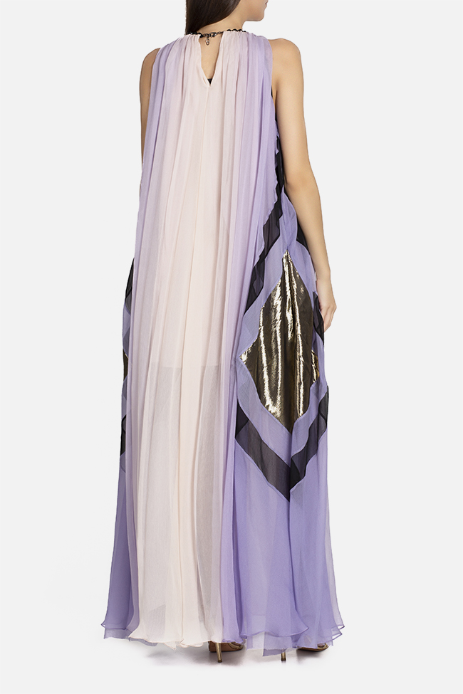 Lina tasseled silk maxi dress Elena Perseil image 2