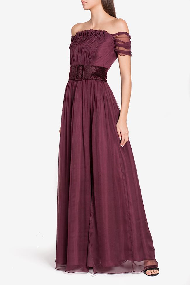 Wesley belted silk gown Mirela Pellegrini image 0