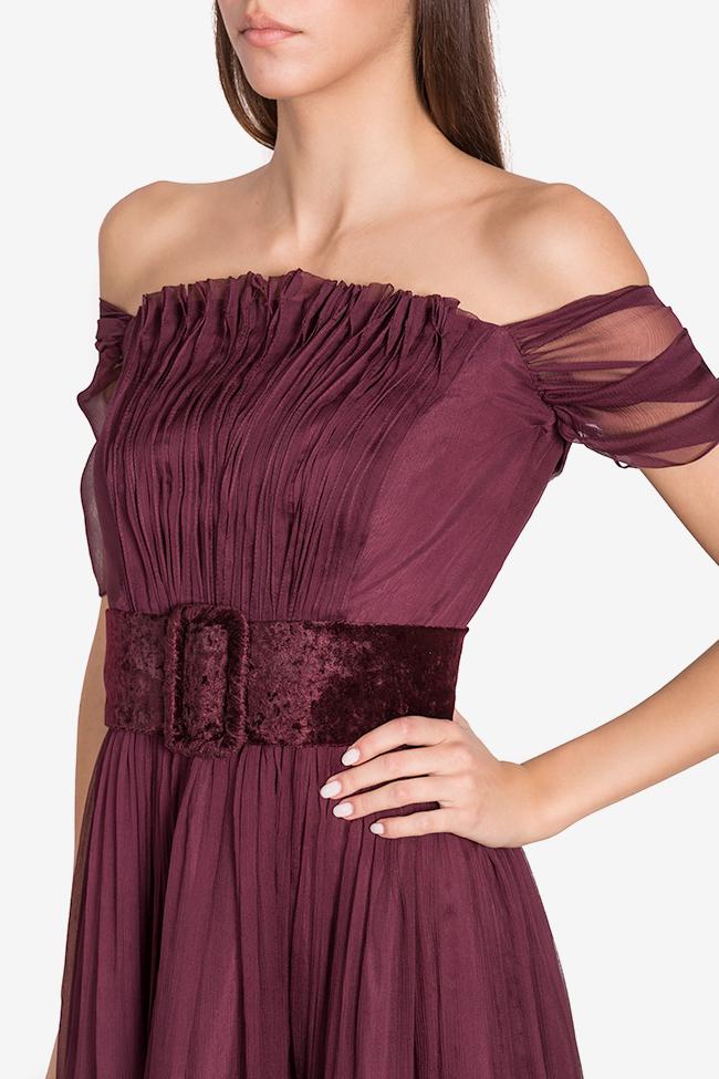 Wesley belted silk gown Mirela Pellegrini image 3