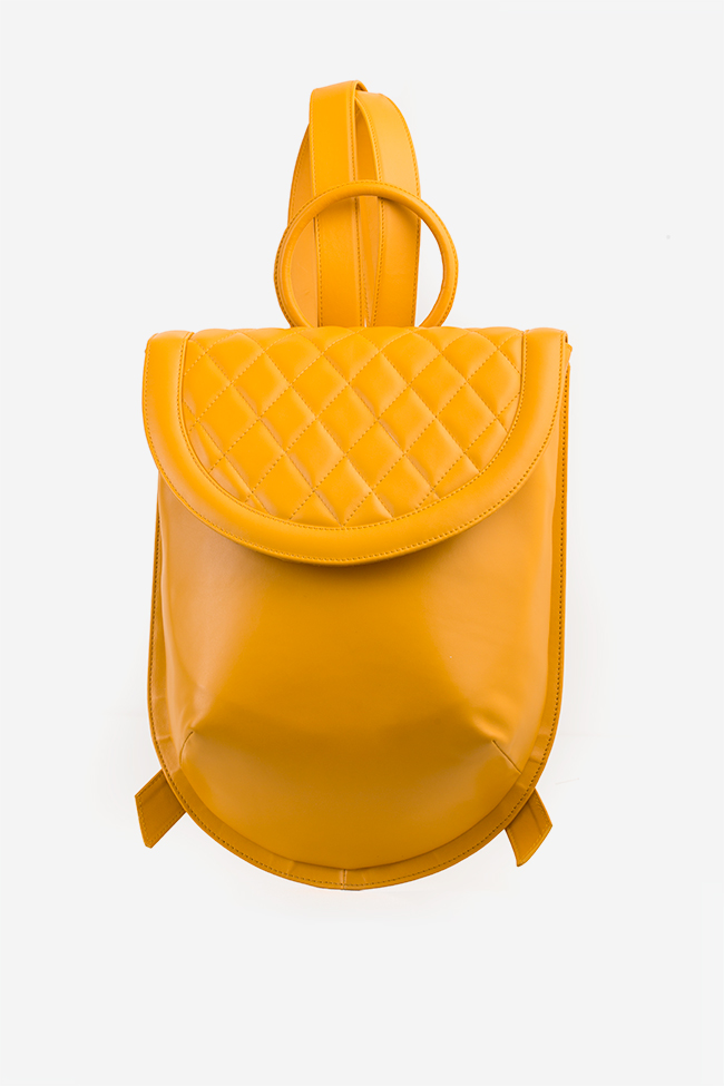 Quilted leather backpack Laura Olaru image 1