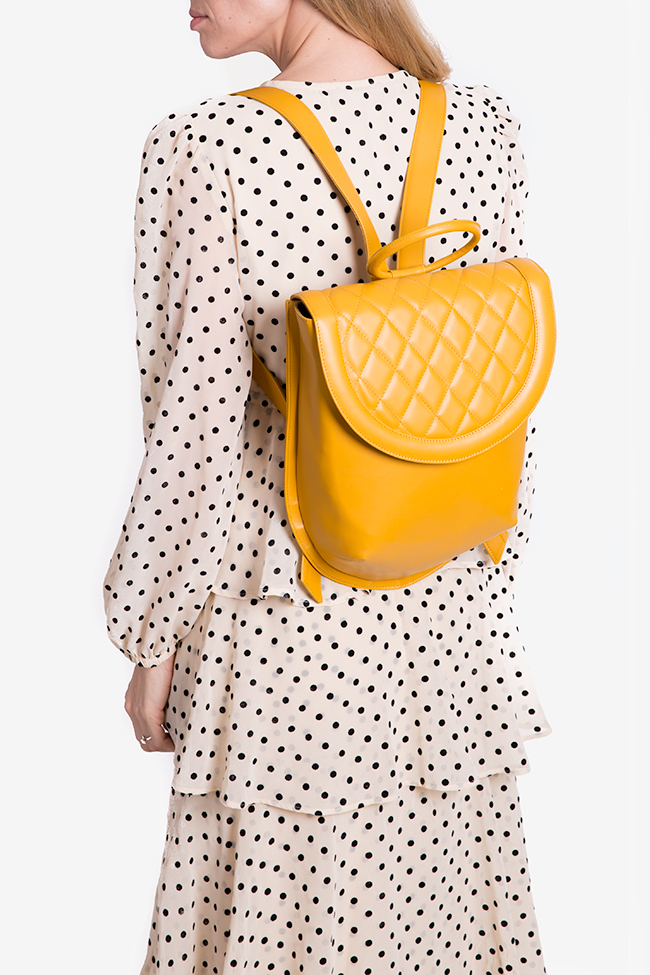 Quilted leather backpack Laura Olaru image 4