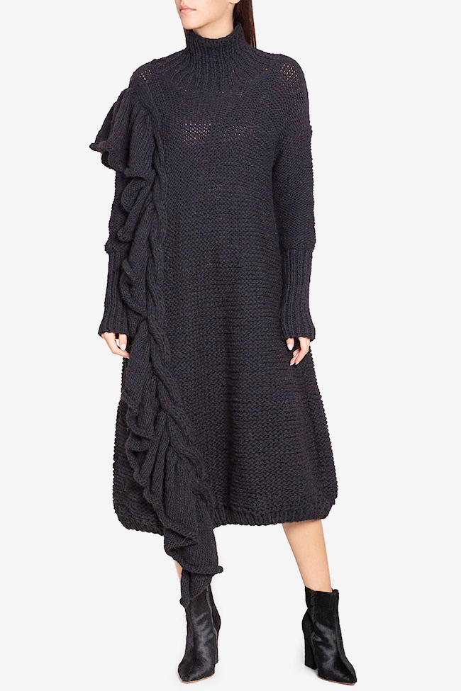 Ruffled wool sweater dress  NARRO image 0
