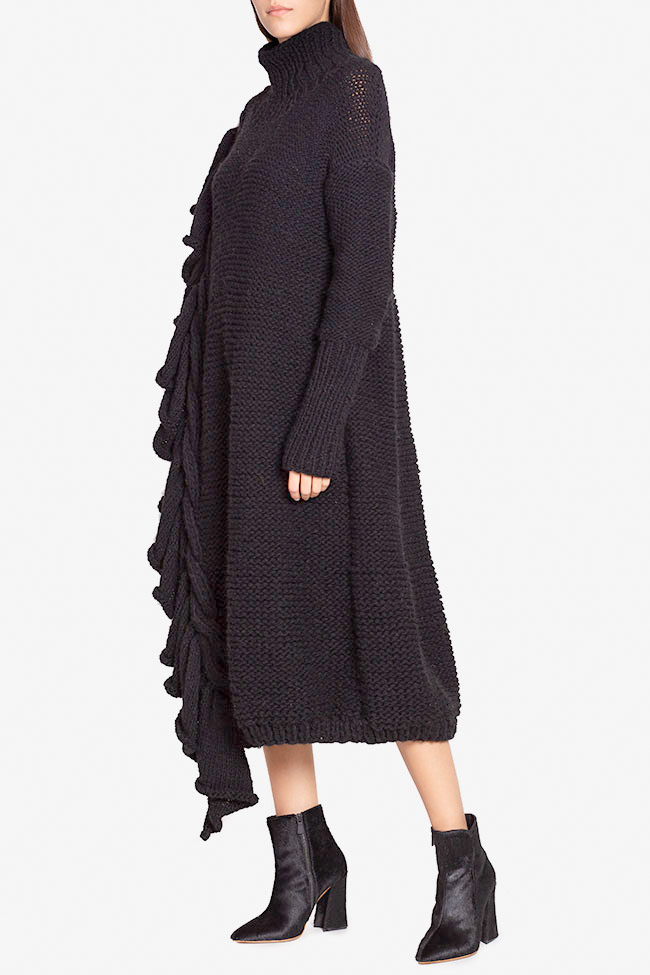 Ruffled wool sweater dress  NARRO image 1
