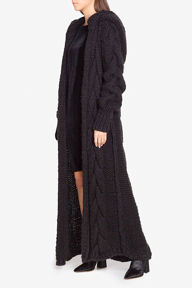 Hooded oversized wool cardigan NARRO image 0