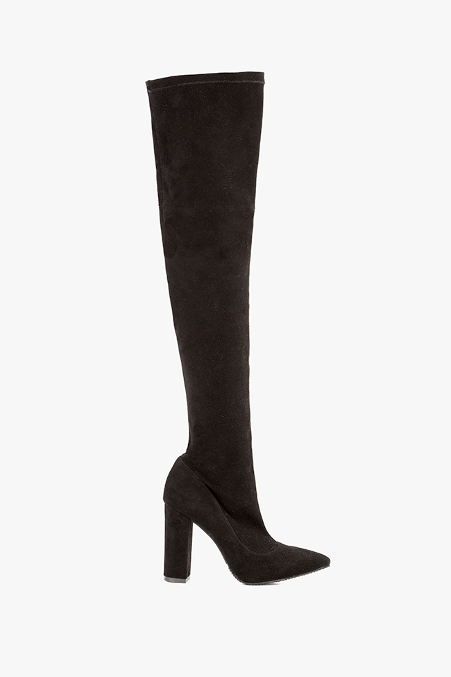 The Queen stretch suede over-the-knee boots Hannami image 0