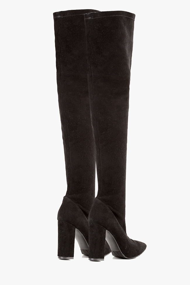 The Queen stretch suede over-the-knee boots Hannami image 2